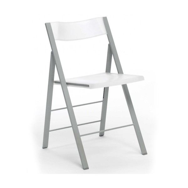Silla plegable pisa blanco for Sillas plegables diseno
