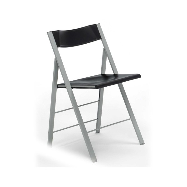 Silla plegable pisa negro for Sillas plegables comodas