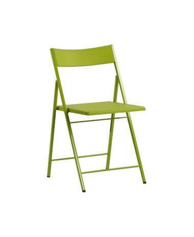 Silla plegable slim verde for Sillas plegables diseno