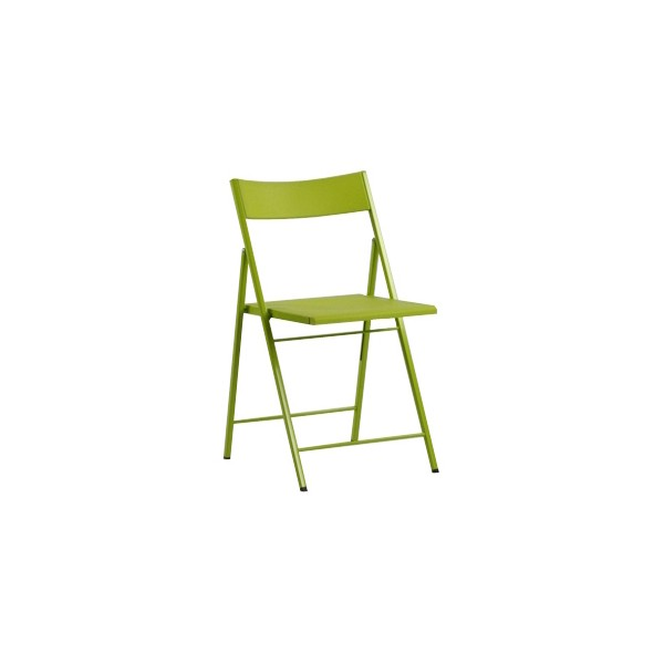 Silla plegable slim verde for Sillas plegables diseno