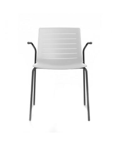 silla de confidente blanca brazos