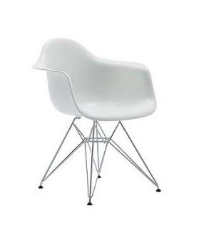 Sillón Diseño Ims Blanco con patas metálicas