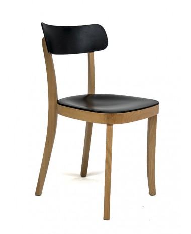 Silla de diseño Combi madera negra