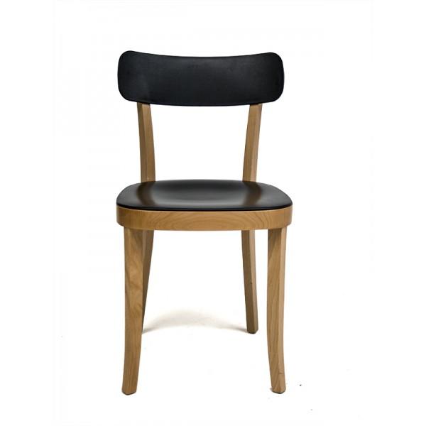 Silla de dise o combi madera negra for Disenos de sillas de madera