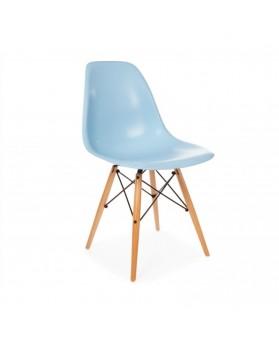 Silla Diseño Ims Azul con patas de madera