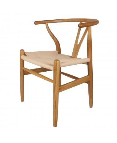 Silla Nórdica Rep. CH 24 Wishbone Madera Roble Natural