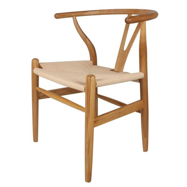 Silla n rdica rep ch 24 wishbone natural madera roble for Silla nordica madera