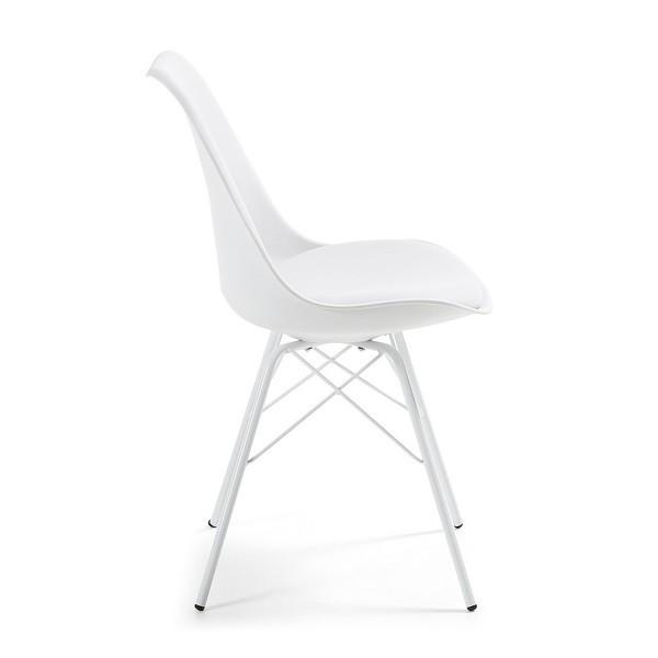 silla dise o alf metalica blanca