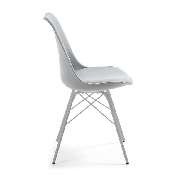 silla dise o alf metalica gris