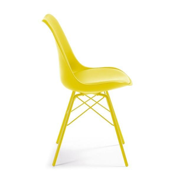 silla dise o alf met lica amarillol