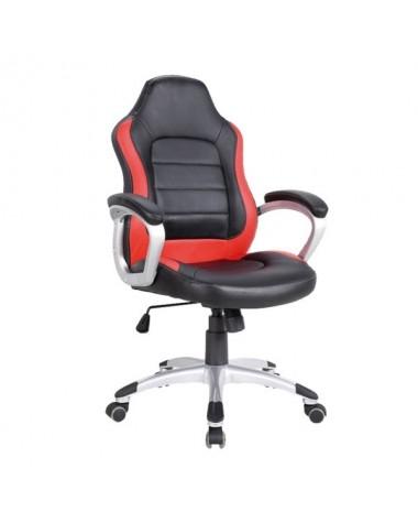 silla oficina deportiva Mónaco roja negra