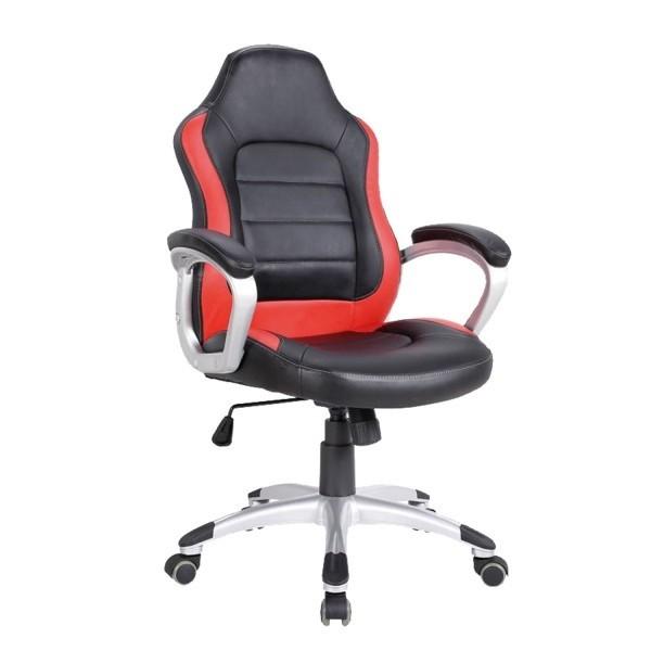 Silla oficina deportiva m naco roja negra for Silla de oficina deportiva