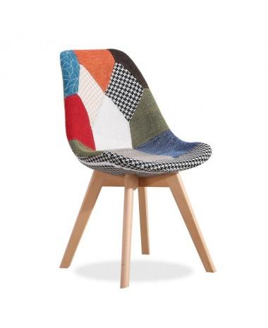 silla diseño nórdica patchworch