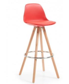 Taburete diseño Alf rojo