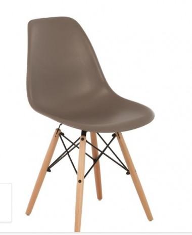 Silla Diseño Ims polipropileno TOPO con patas de madera