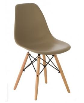 Silla Diseño Ims polipropileno ARENA con patas de madera