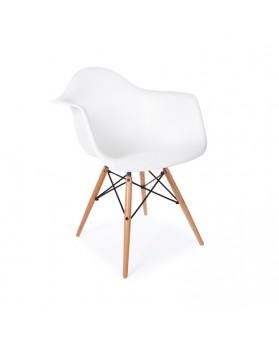 Sillón Diseño Ims Blanco con patas de madera