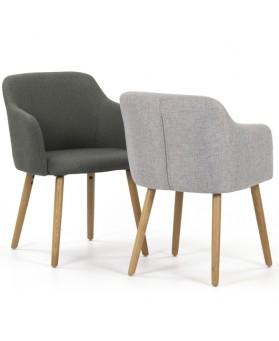 Sillón diseño Arles gris claro