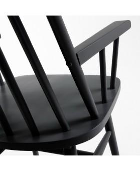 Sillón Nórdico Ilinois lacado negro
