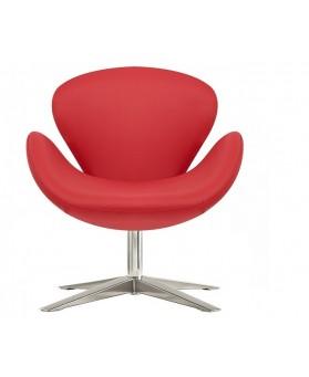 Sillón diseño Swan polipiel rojo