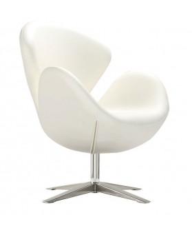 Sillón diseño Swan polipiel  blanca