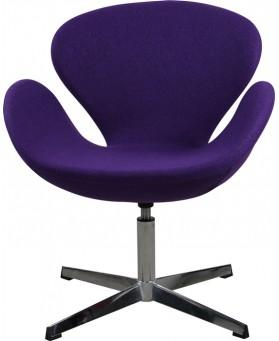 Sillón diseño Swan cachemir violeta