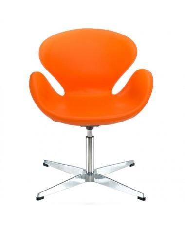 Sillón diseño Swan polipiel  naranja