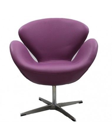 Sillón diseño Swan cachemir púrpura