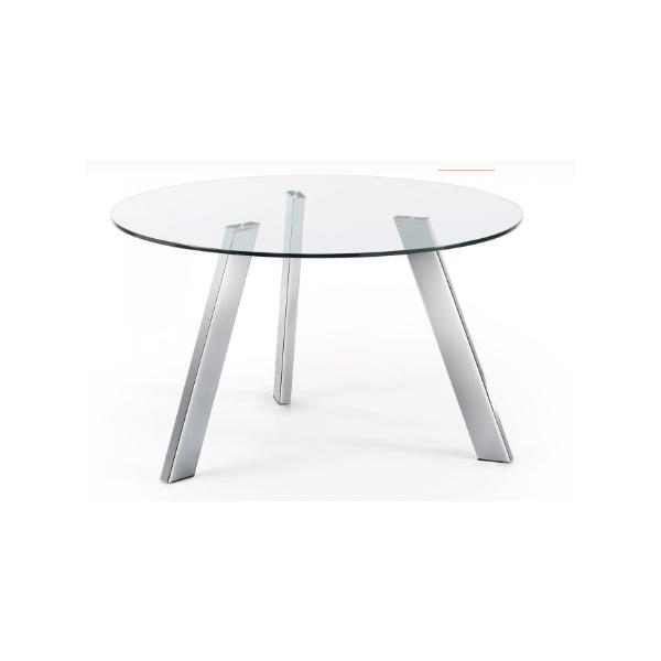 Mesa caribe130 cm cristal patas cromada - Patas mesa cristal ...