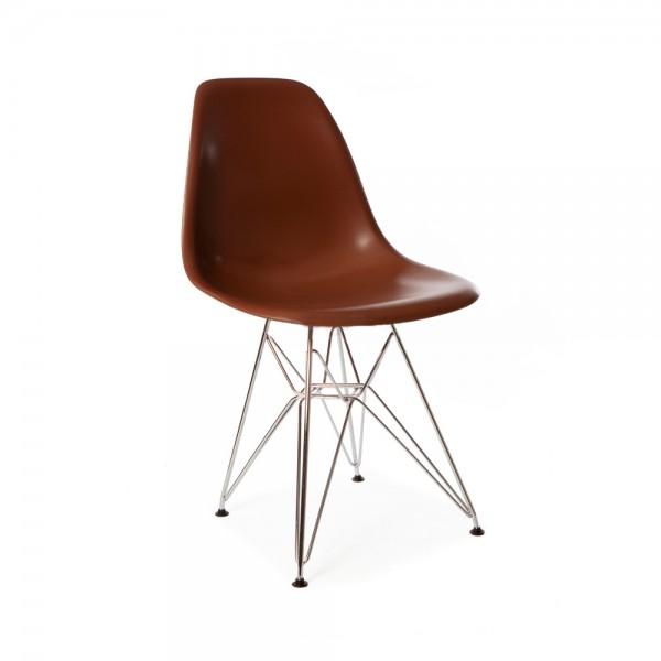 sillas patas metalicas silla dise o eames marr n con patas met licas