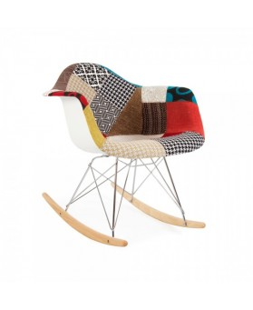 Silla diseño mecedora Tower Patchwork