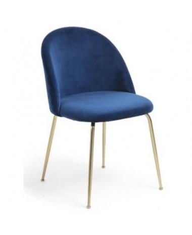 Silla vintage Myst gold azul