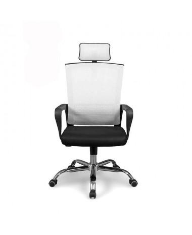 Silla oficina dirección Imax blanca negra