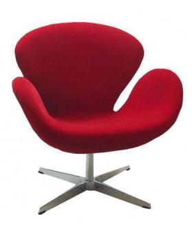 Silla Confidente Swan Rojo