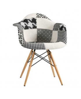 Sillón Diseño Ims Patchwork Black and White