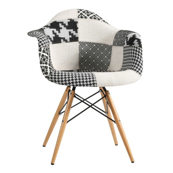 Sill n dise o ims patchwork black and white for Sillon diseno