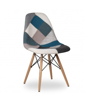 Silla Diseño Ims Patchwork Electric Blue