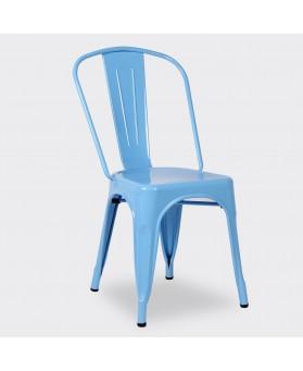 Silla Diseño Vintage Tol Azul
