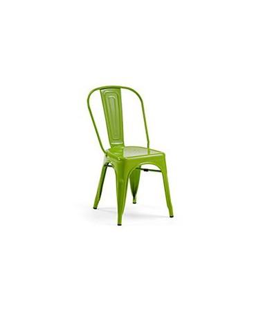 Silla Diseño Vintage Tol Verde