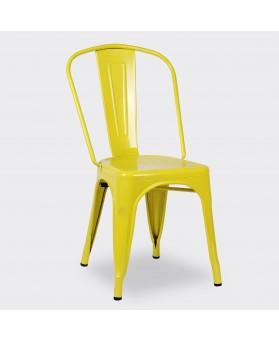 Silla Diseño Vintage Tol Amarillo