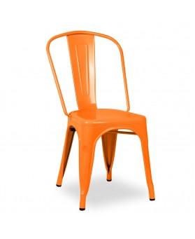 Silla Diseño Vintage Tol Naranja