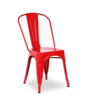 Silla Diseño Vintage Tol Rojo