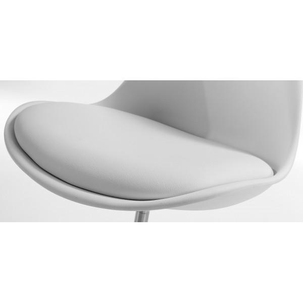 Silla Diseño Tulip Blanco Oficina con ruedas