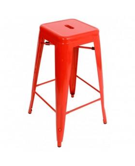 Taburete Vintage Tol Rojo