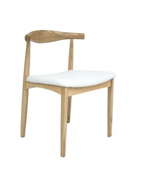 Silla Nórdica Rep. Wegner Elbow CH 20 Blanco