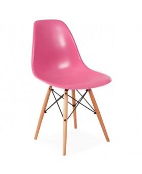 Silla Diseño Ims Rosa con patas de madera