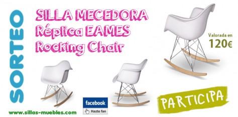 Consigue una silla MECEDORA Réplica EAMES Rocking Chair valorada en 120€. Participa en nuestro sorteo!