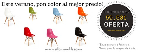 Este mes pon color a tus estancias con esta SUPER OFERTA en sillas replica eames