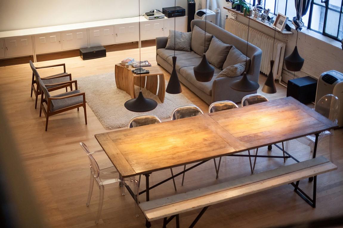 Dise o ecl ctico para lofts el blog de sillas muebles el for Diseno de apartamento de soltero