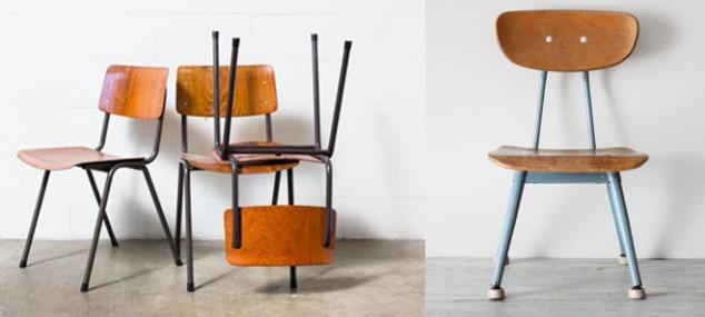 Back to school, sillas de escuela vintage
